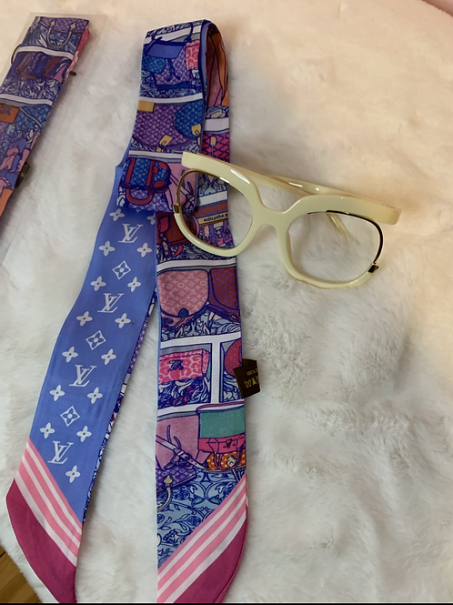 🎀LV Red and blue head band /tie