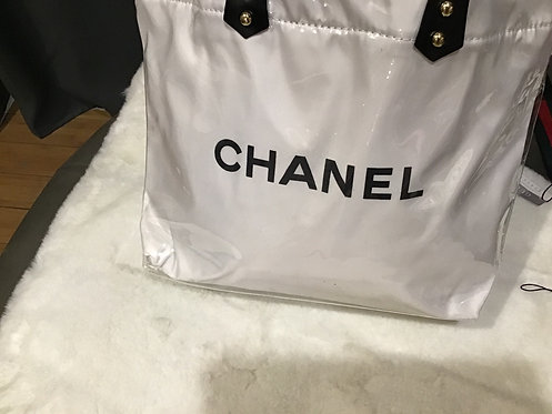 Chanel inspired plastic tote