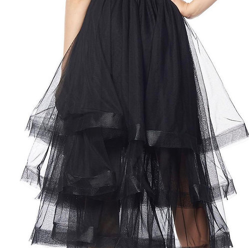 Gracia Mesh black skirt s21870 small