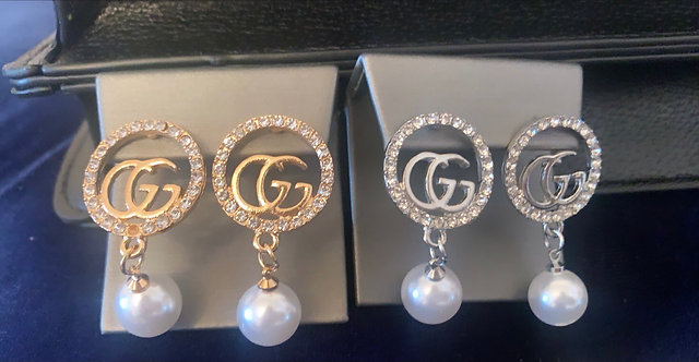 GG Pearl Drop Earrings