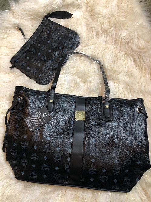 MCM tote and clutch set