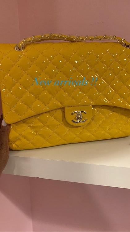Large Patent leather CC handbag