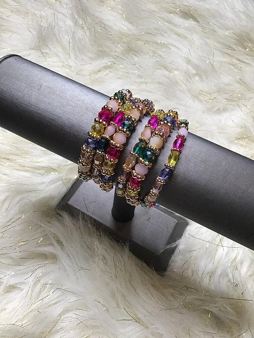 Pastel 6 piece bracelet
