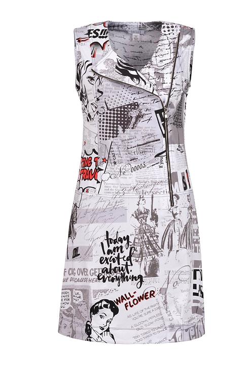 New paper dress Style 20166 Dolcezza | Vintage Newspaper Zip Dress - NEW ARR