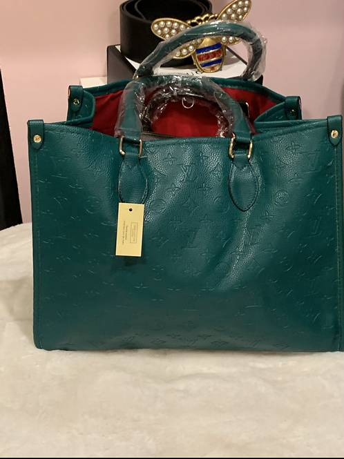 Green LV Tote bag special edition