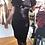 Thumbnail: Unique vintage velvet dress  k699b black