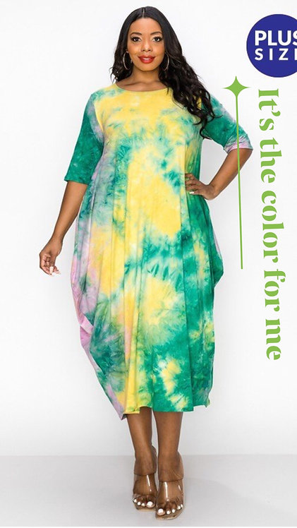 Splash of tie dye Green
