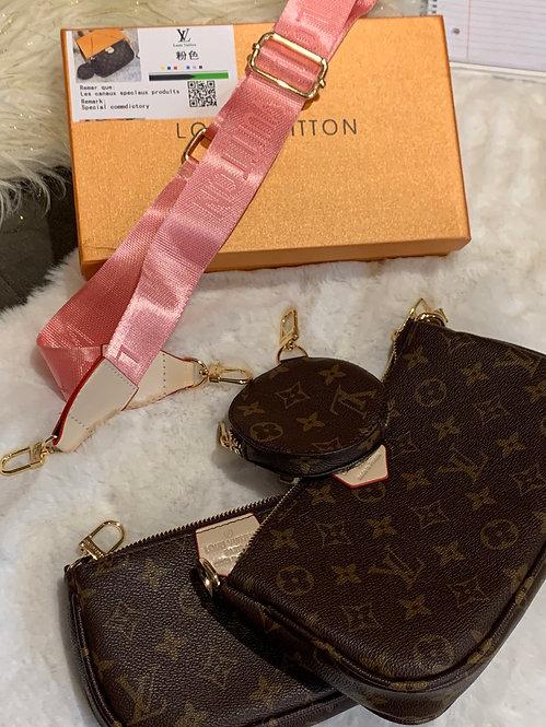 Inspired 3-in -1 handbag