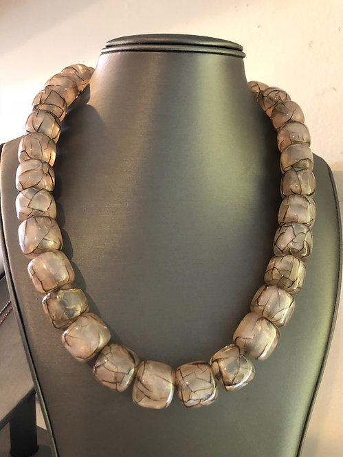 Stone necklace  white only
