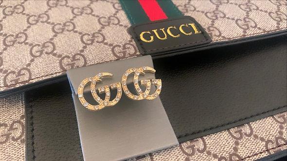 GG Gold Post Earrings