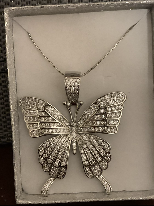 Cz large butterfly