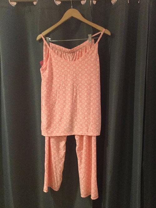 Pink Lv lounge wear
