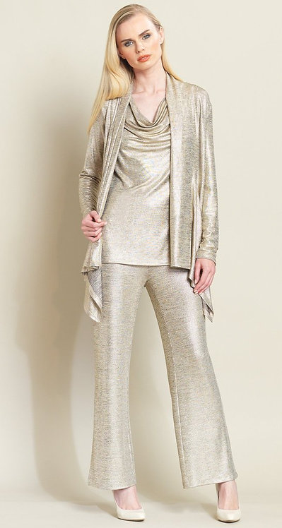 Clara Sun Woo Dressy stretch knit tank cowl neck