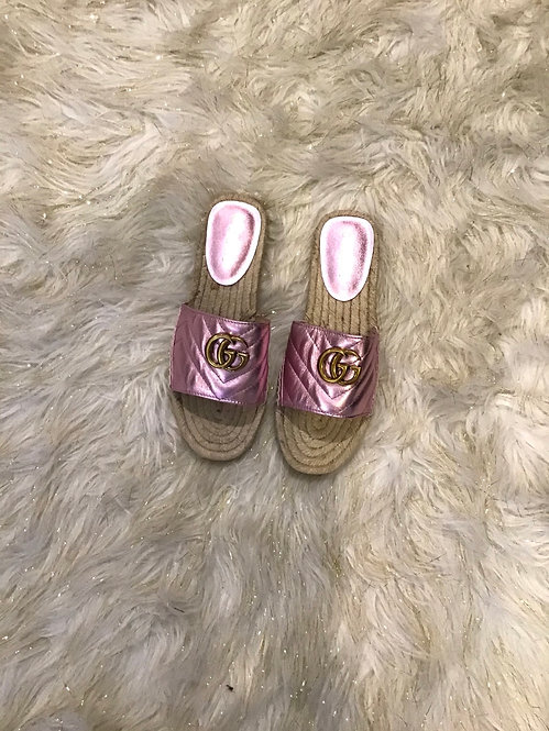 GG Metallic Sandals