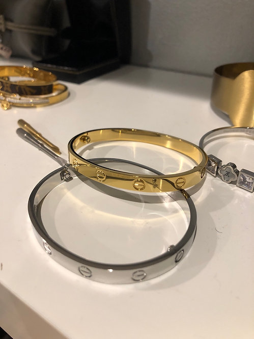 Large Inspired Cartier bracelet with tool unisex