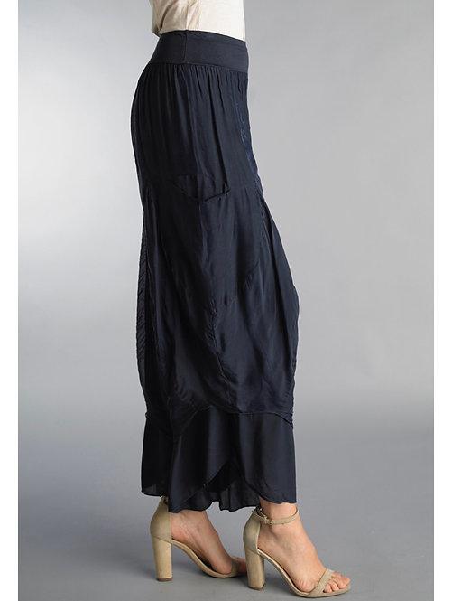 Tempo Navy Silk Pants 8386P