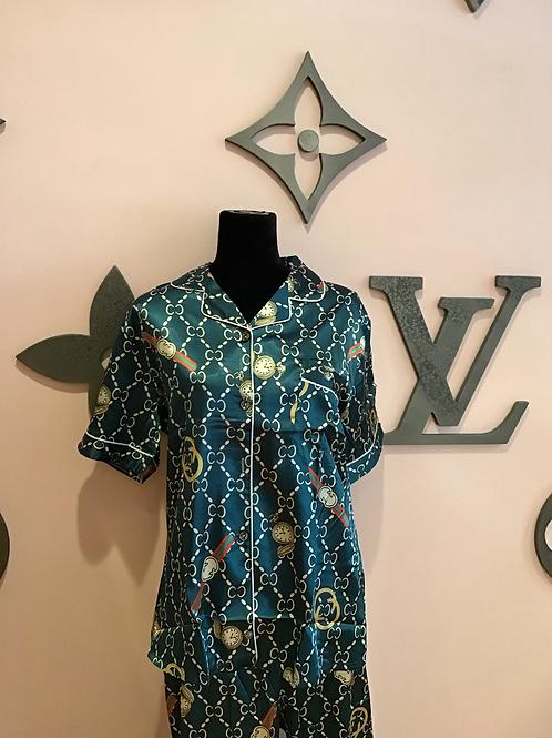 GG Inspired Clock Pajama Set