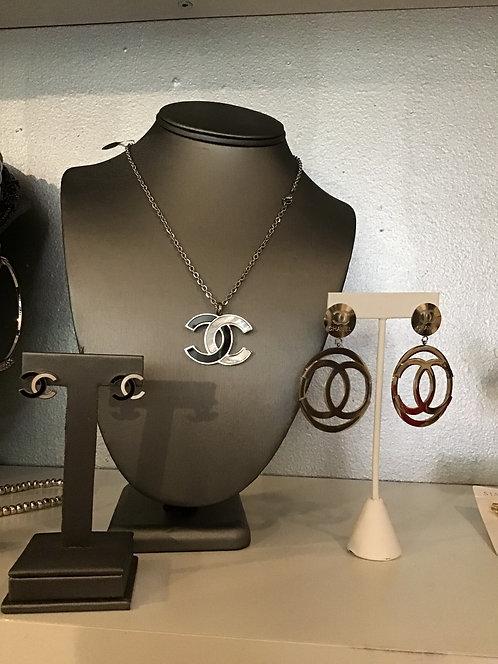 CC necklace & earrings set /155