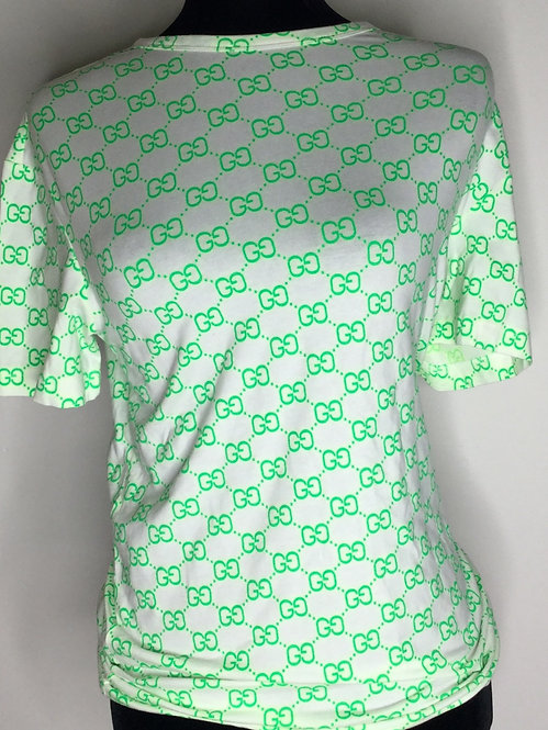 GG inspired green design T-shirt