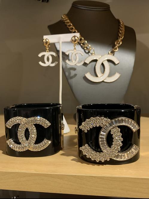 Large cuff CC bracelet