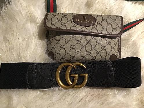 Inspired Gucci Stretch Belt plus size