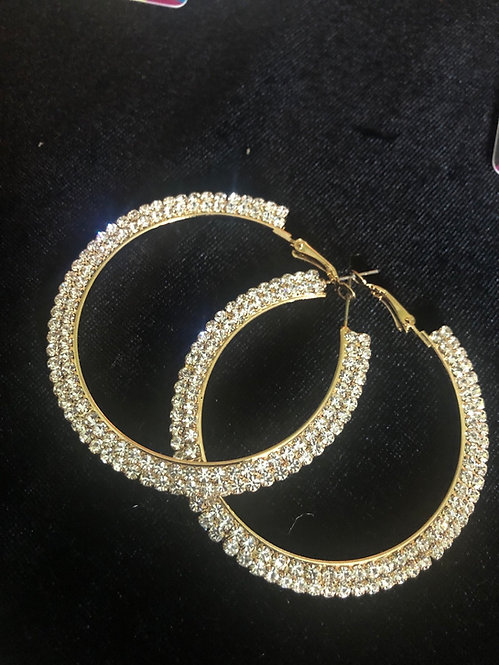 Gold Bling earrings  #38