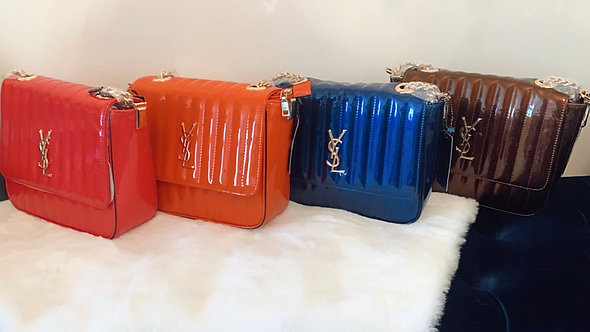 Glossy patent leather YSL Inspired Chain Bag
