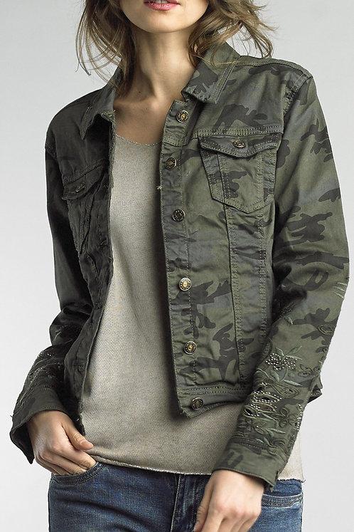 Camo denim jacket 4373k