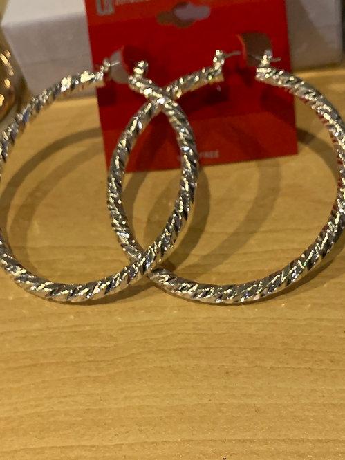 Medium hoops silver