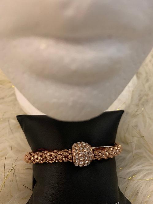 Rhinestone bracelet rose gold