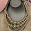 Thumbnail: Pink and Green pearls necklace set  0059