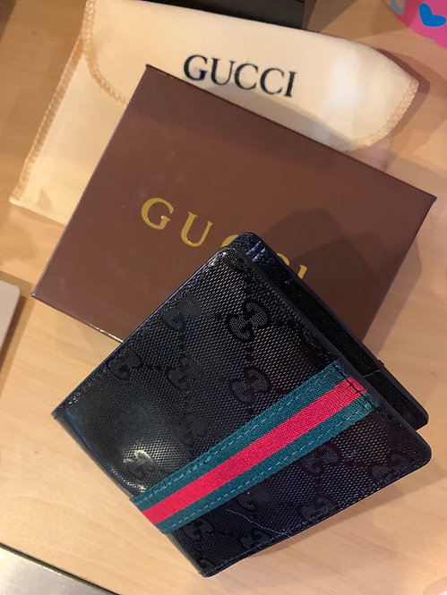 New classic GG black stripe wallet