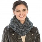 Glittery metallic hat and soft infinity scarf