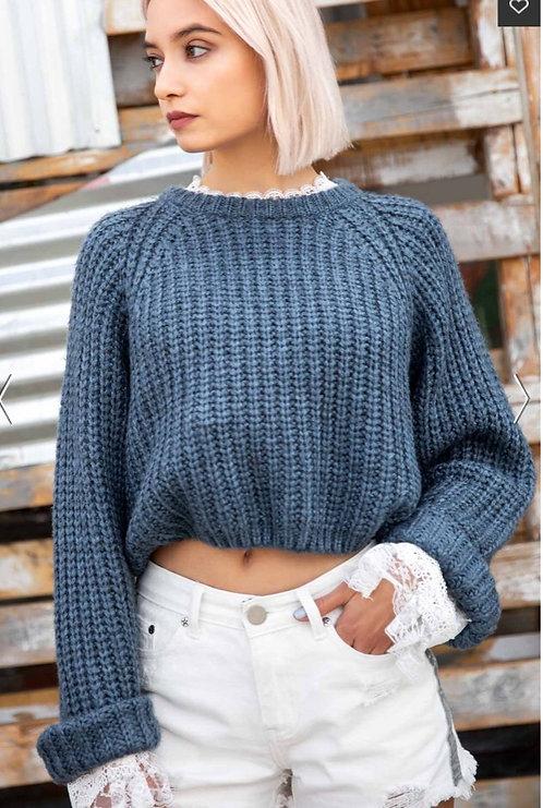 Pol crop sweater  style jst618