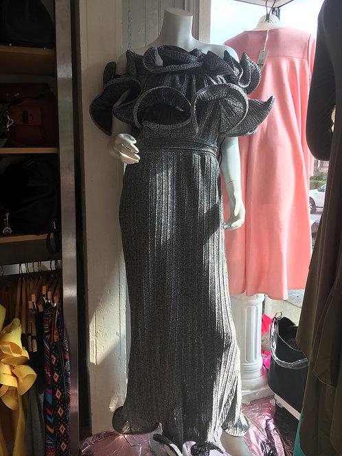 Show room ready Grey shimmery dress