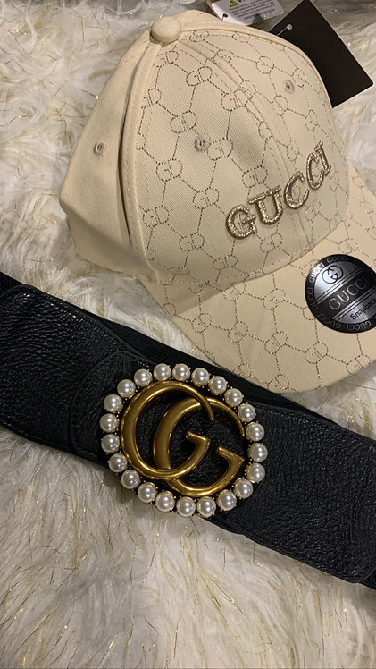 GG pearl  stretch belt only