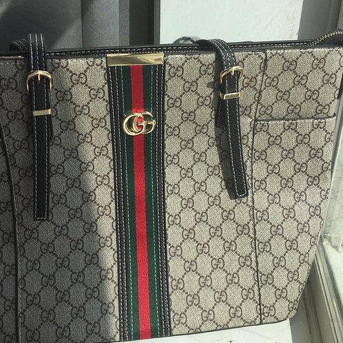 Inspired Gucci stripe tote