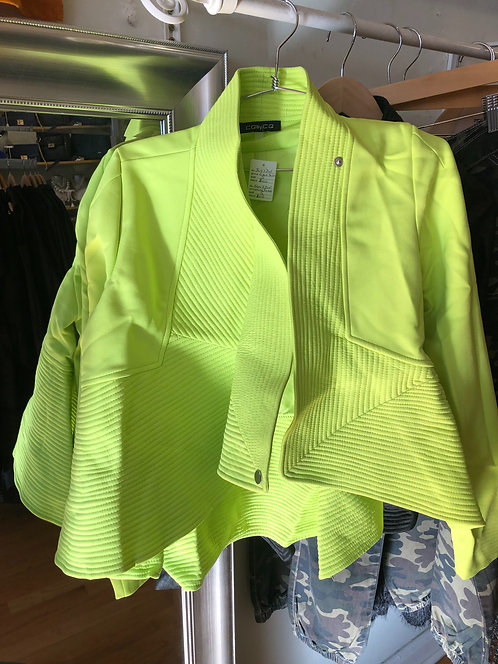 Fly girl jacket in lime green only