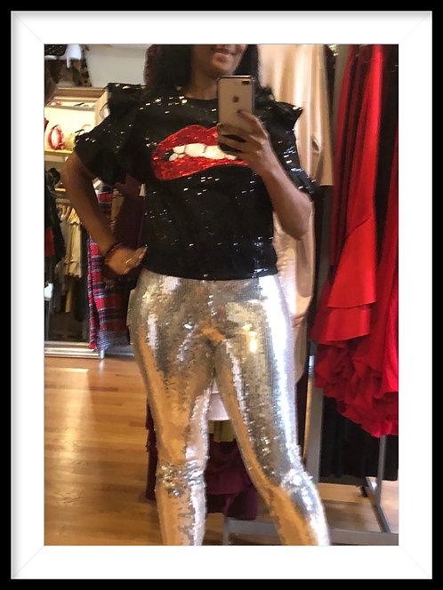 Silver sequin pants 1045