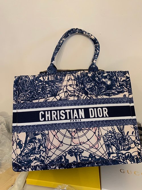 Christian Dior inspired tote and pouch