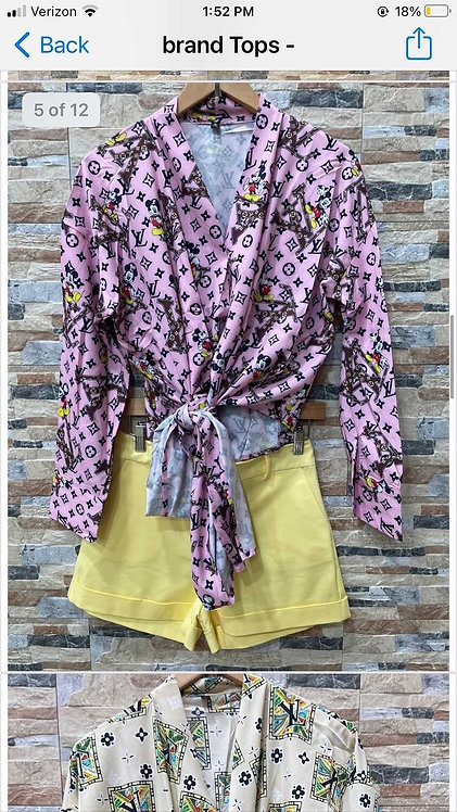 Inspired LV Mickey Mouse Blouse 6014-112