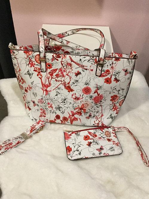 Fashion Handbag with wallet and strap