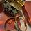 Thumbnail: Animal print cuff and earrings set