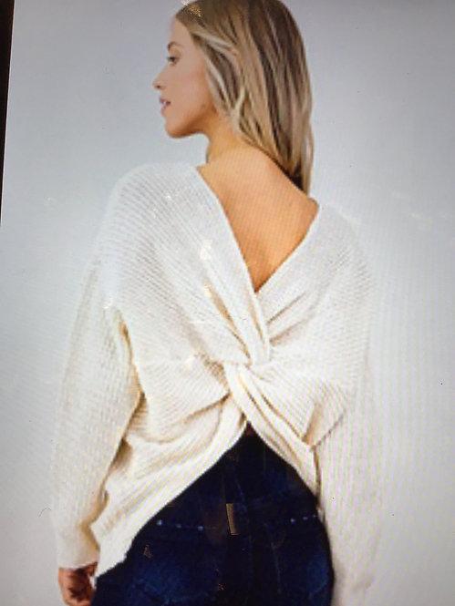 Ivory Twist Top Sweater KB-65 8213-666