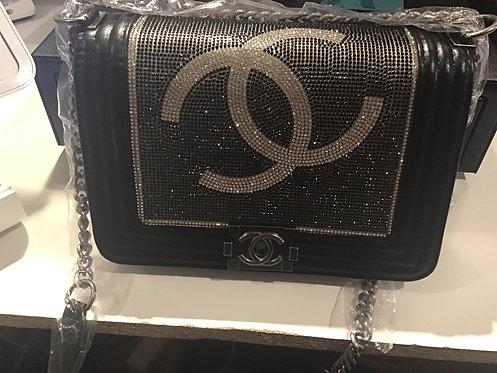 Bling black Cc purse