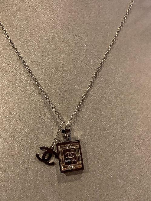 New gold CC bottle necklace  an earrings set
