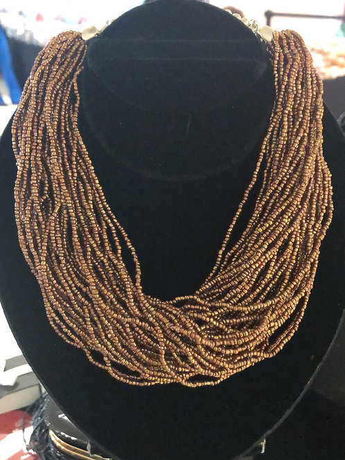 Shades of Gold beaded necklace