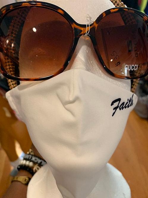 White Faith fashion mask