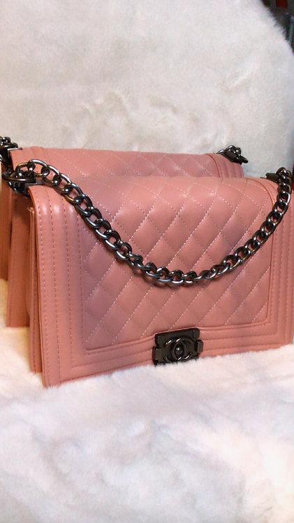 Large CC handbag Pink