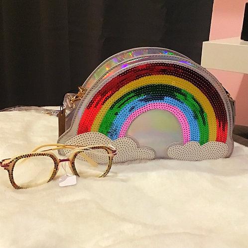 Silver Rainbow Crossbody